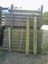 Half Round Rustic Posts Pressure Treated Ex 100mm