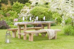 Rebecca Table 2 Bench Set