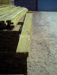 Rectangular Rails Sawn Pressure Treated Softwood 3.6m