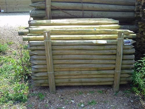 Round Rustic Strutts Pressure Treated 8'