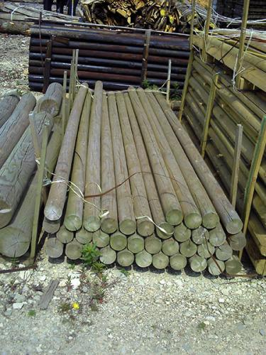 Treated 100mm 3.6m Jump Poles