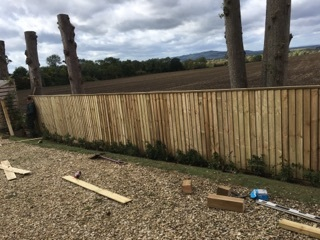 Feather Edge Fencing Installation
