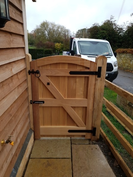 Iroko Side Gate Back