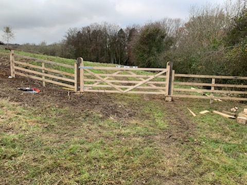 Oak Field Gate Installation
